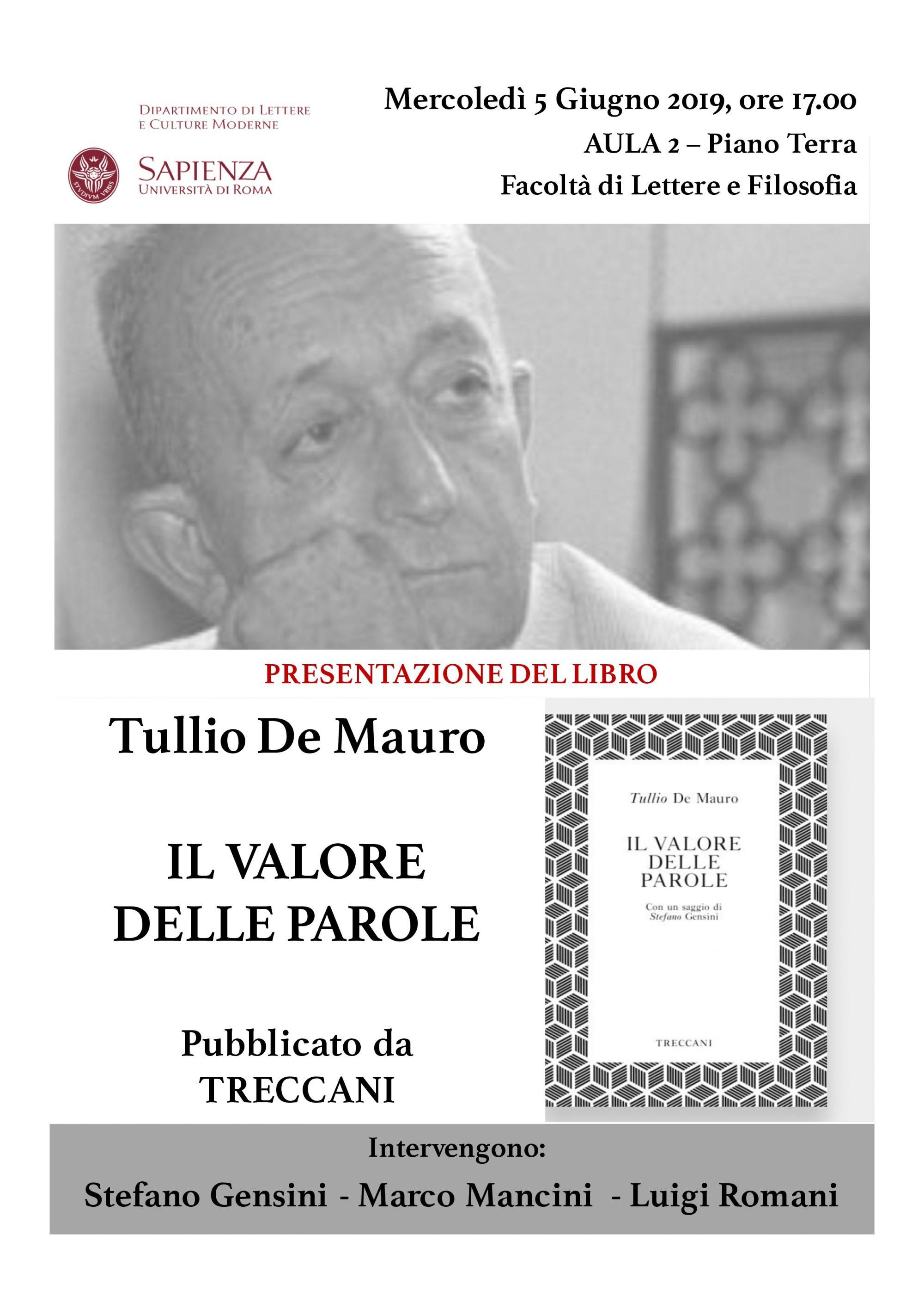 Calendario Accademico Sapienza 2020 2020.News Tullio De Mauro